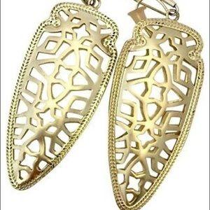 Sadie Gold Filigree Earrings